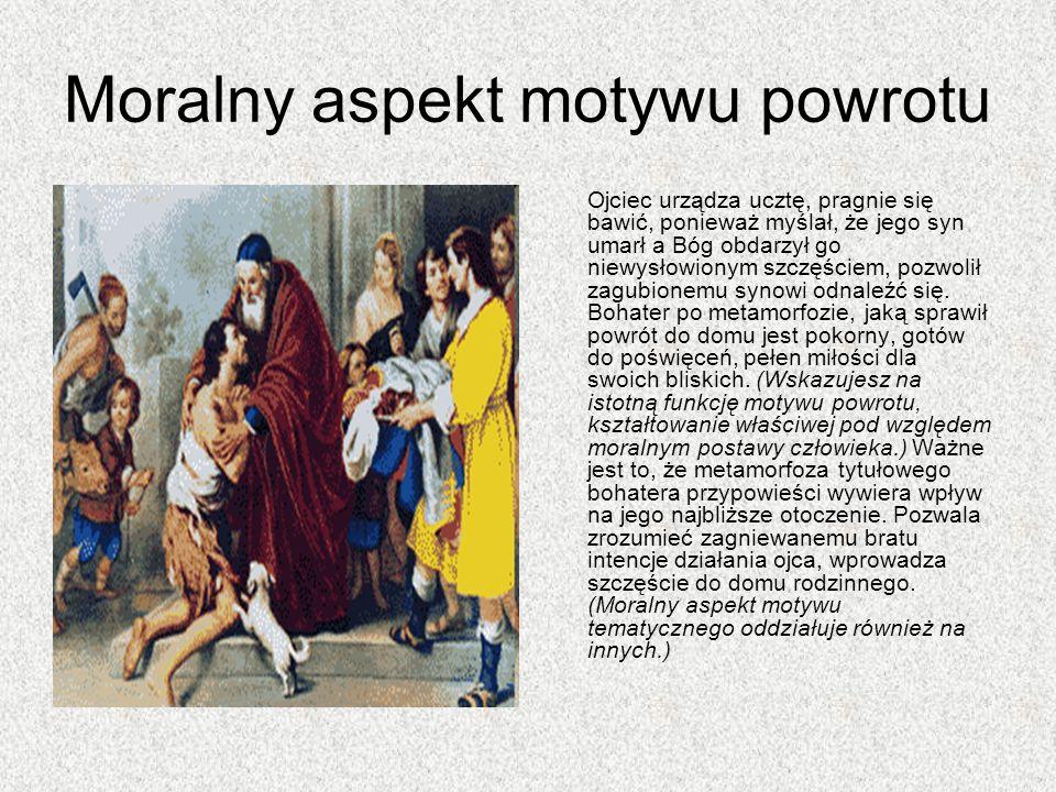 Moralny aspekt motywu powrotu