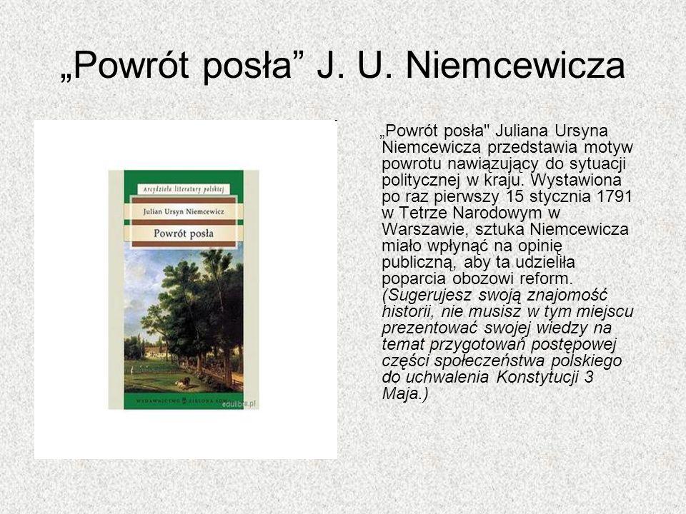 """""""Powrót posła J. U. Niemcewicza"""