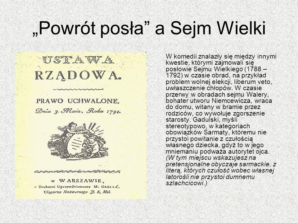 """""""Powrót posła a Sejm Wielki"""