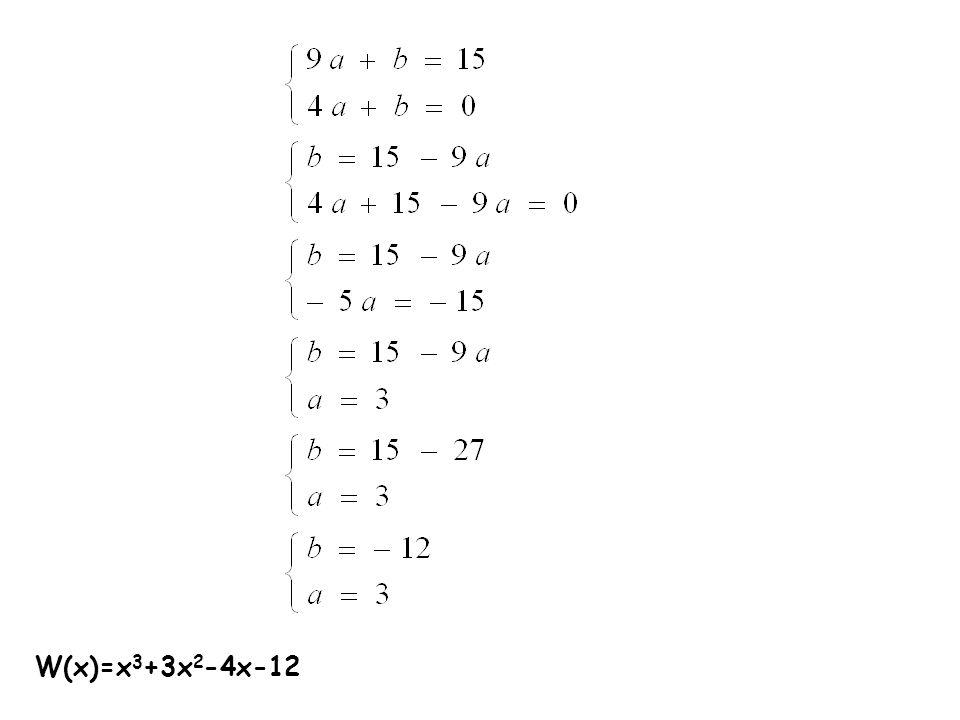 W(x)=x3+3x2-4x-12