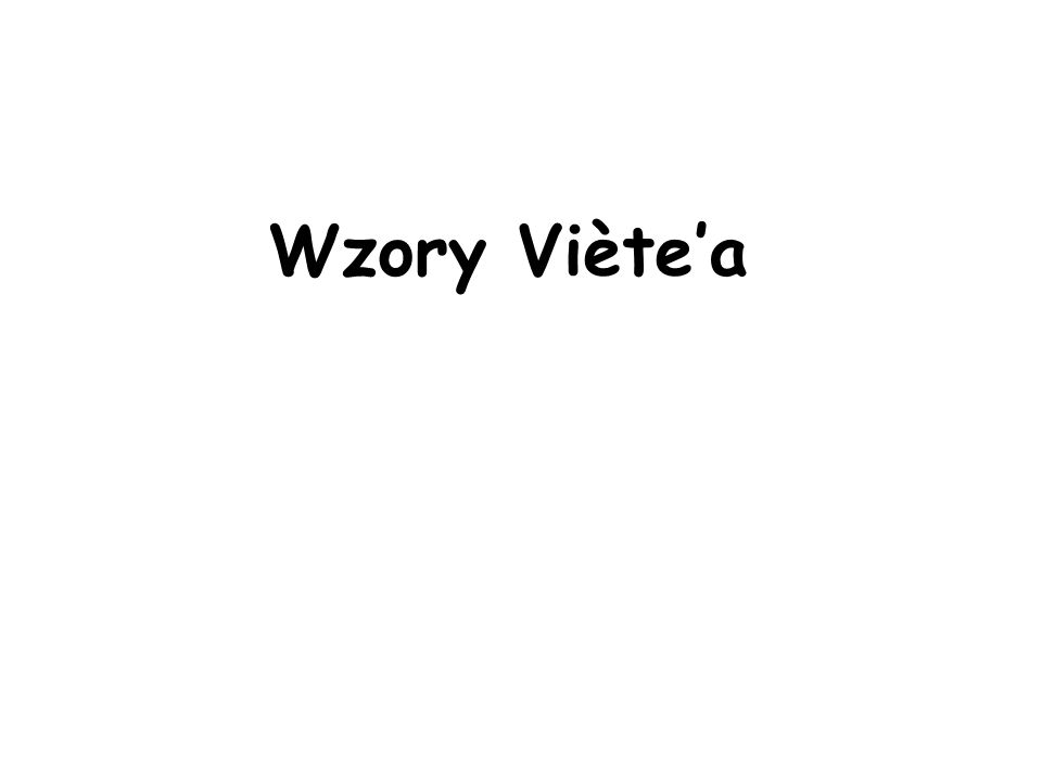 Wzory Viète'a