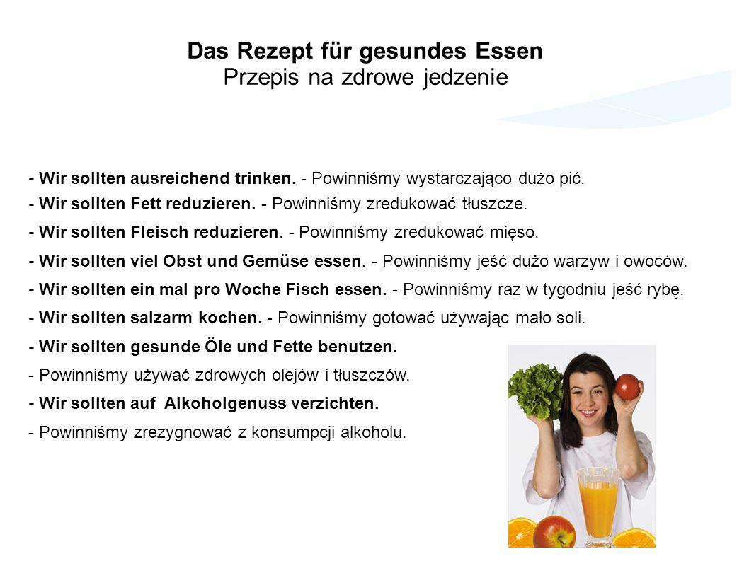 Das Rezept für gesundes Essen