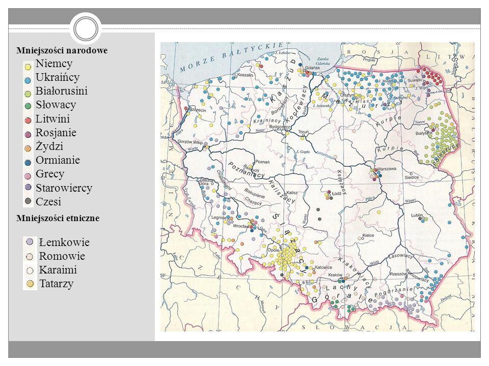 Mniejszości narodowe, grupy etniczne i dialekty