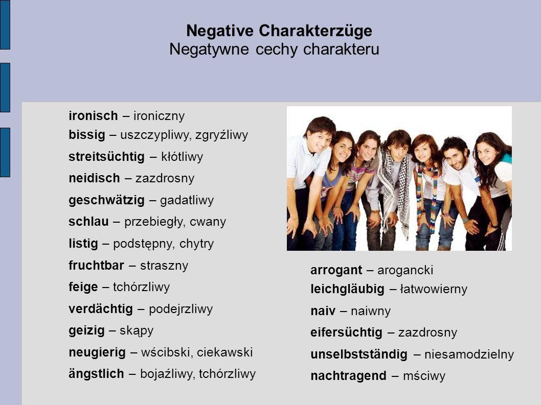 Negative Charakterzüge