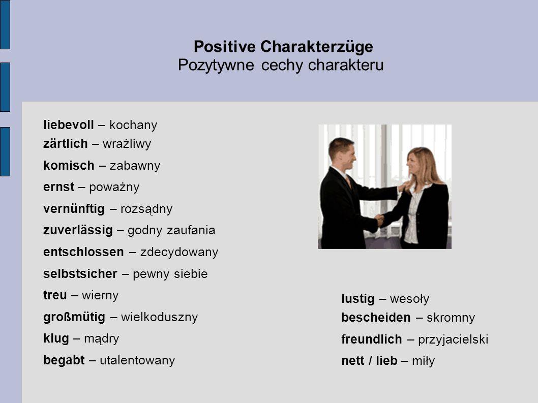 Positive Charakterzüge