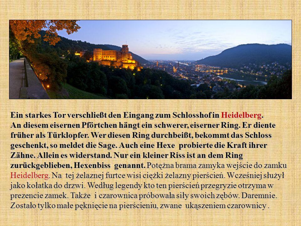 Ein starkes Tor verschließt den Eingang zum Schlosshof in Heidelberg
