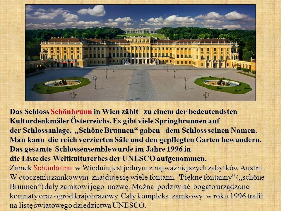 Das Schloss Schönbrunn in Wien zählt zu einem der bedeutendsten Kulturdenkmäler Österreichs.