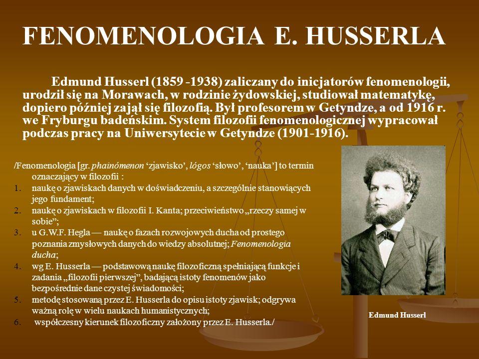 FENOMENOLOGIA E. HUSSERLA