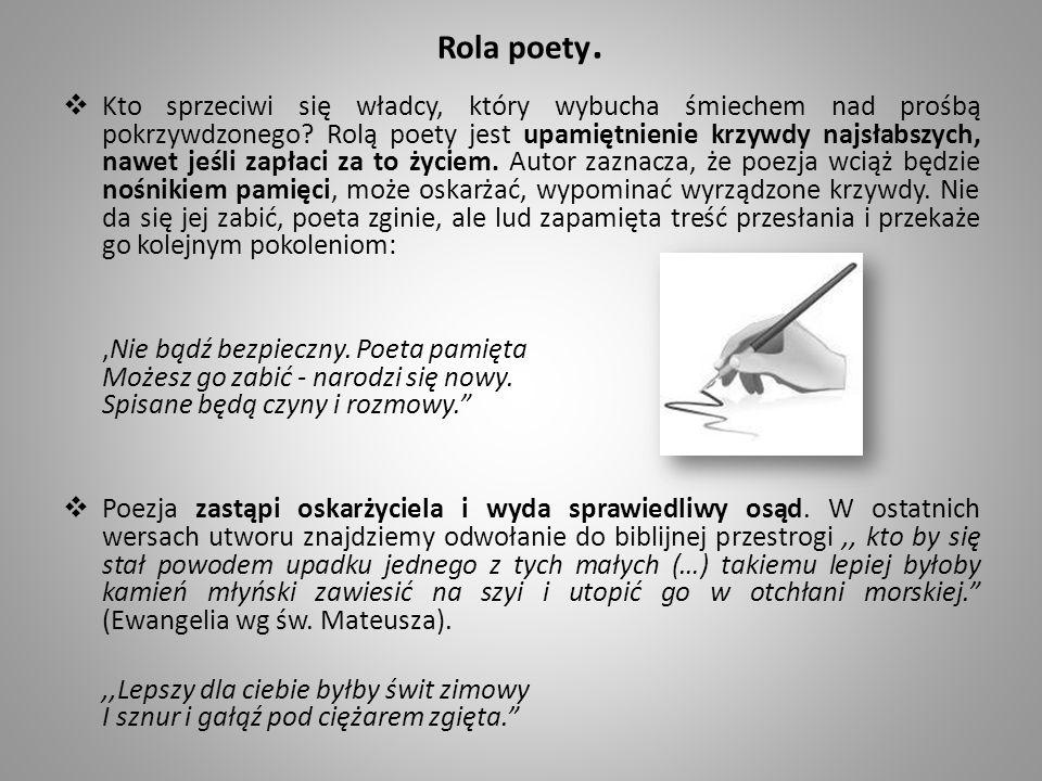 Rola poety.