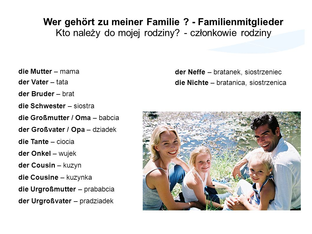 Wer gehört zu meiner Familie - Familienmitglieder