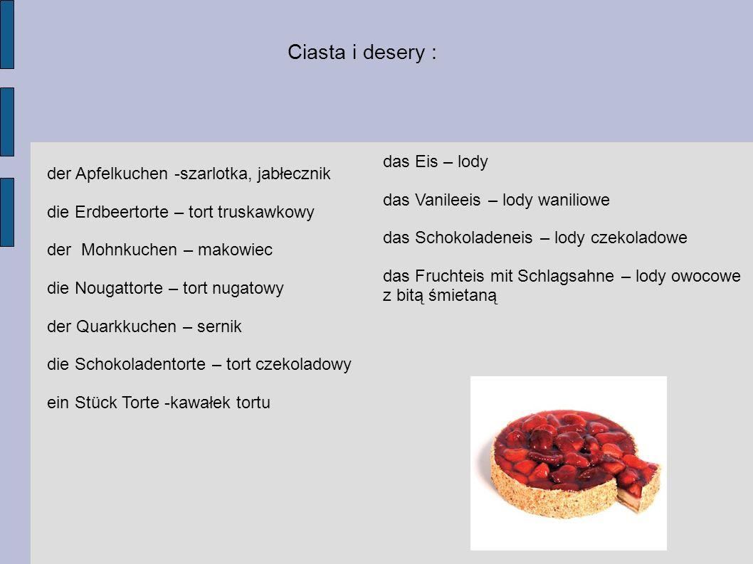 Ciasta i desery : das Eis – lody