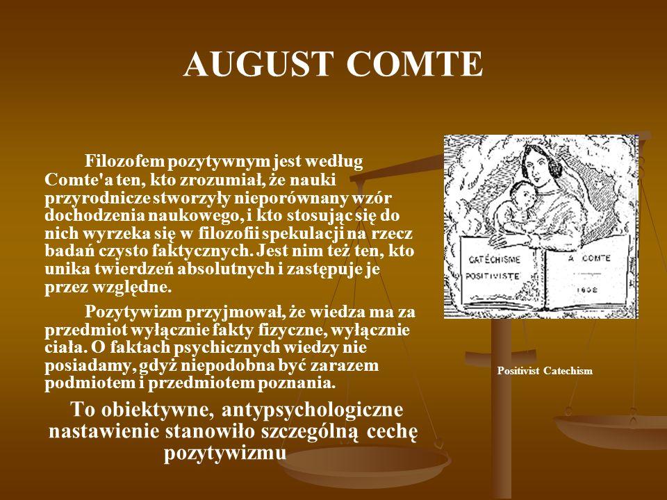 AUGUST COMTE