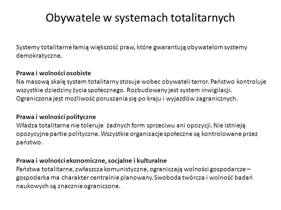 Obywatele w systemach totalitarnych