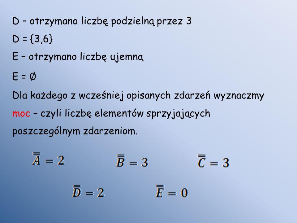 D – otrzymano liczbę podzielną przez 3