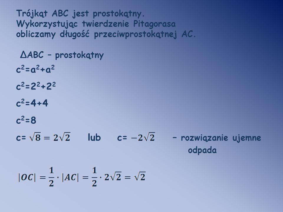 c= lub c= – rozwiązanie ujemne