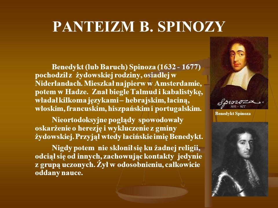 PANTEIZM B. SPINOZY