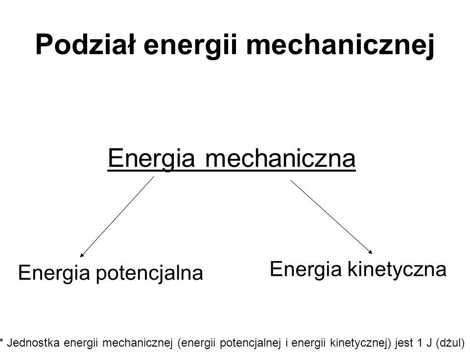Podział energii mechanicznej