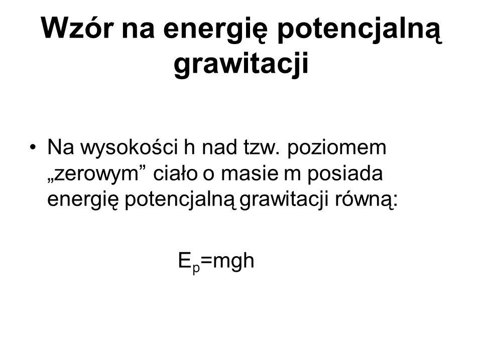 Wzór na energię potencjalną grawitacji