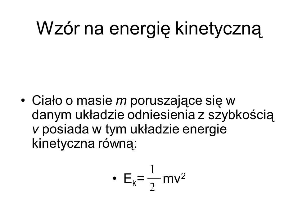 Wzór na energię kinetyczną
