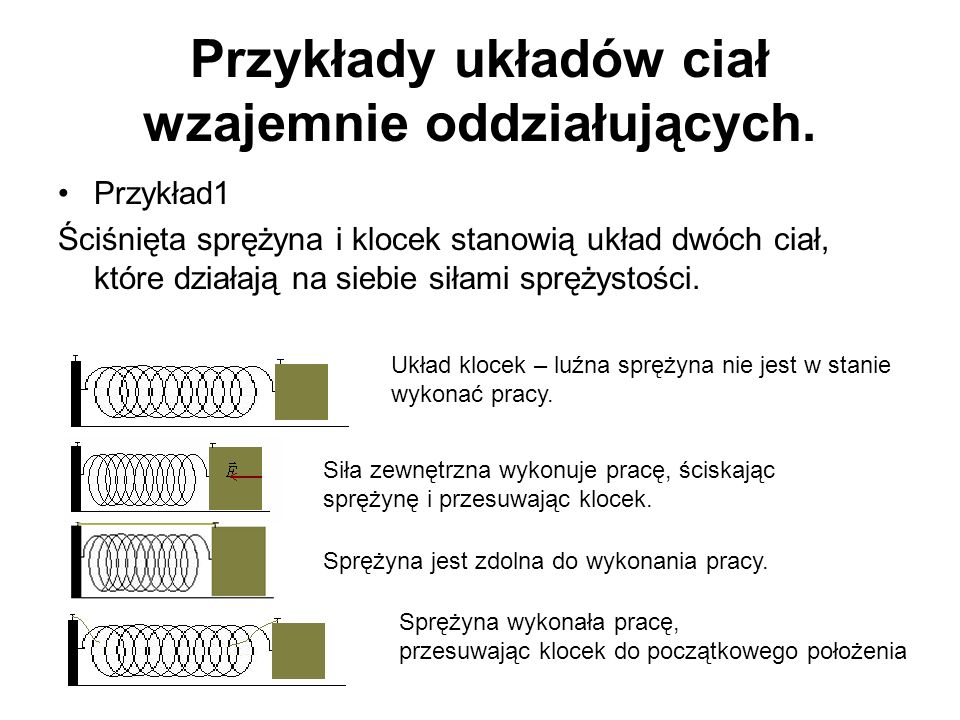 Przykłady układów ciał wzajemnie oddziałujących.