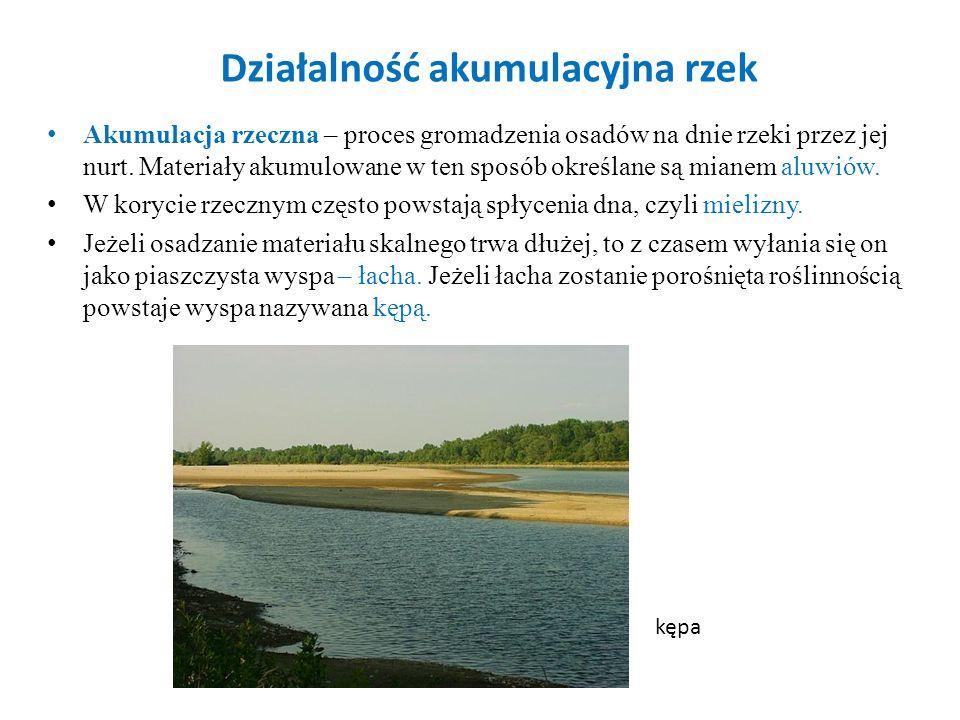 Działalność akumulacyjna rzek