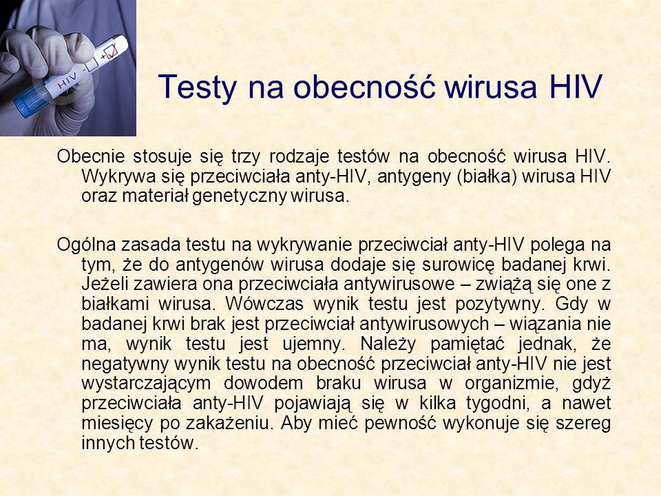Testy na obecność wirusa HIV