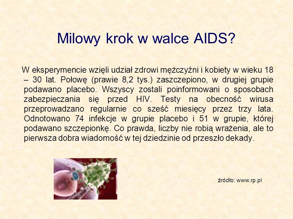 Milowy krok w walce AIDS