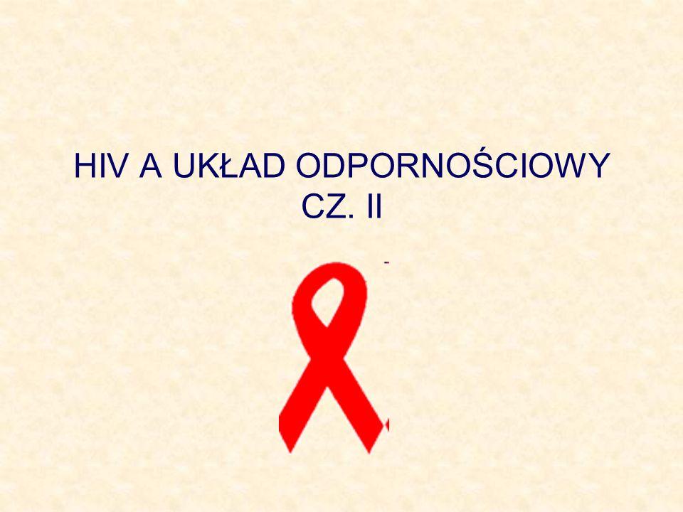 HIV A UKŁAD ODPORNOŚCIOWY CZ. II