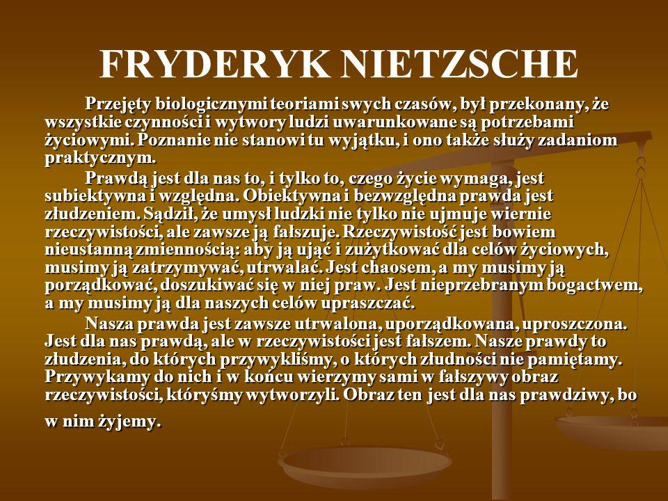 FRYDERYK NIETZSCHE