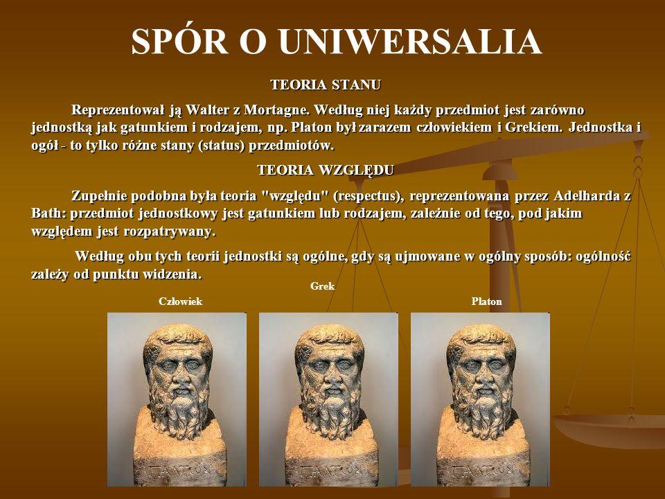 SPÓR O UNIWERSALIA TEORIA STANU