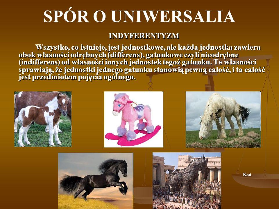 SPÓR O UNIWERSALIA INDYFERENTYZM