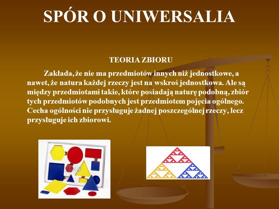 SPÓR O UNIWERSALIA TEORIA ZBIORU