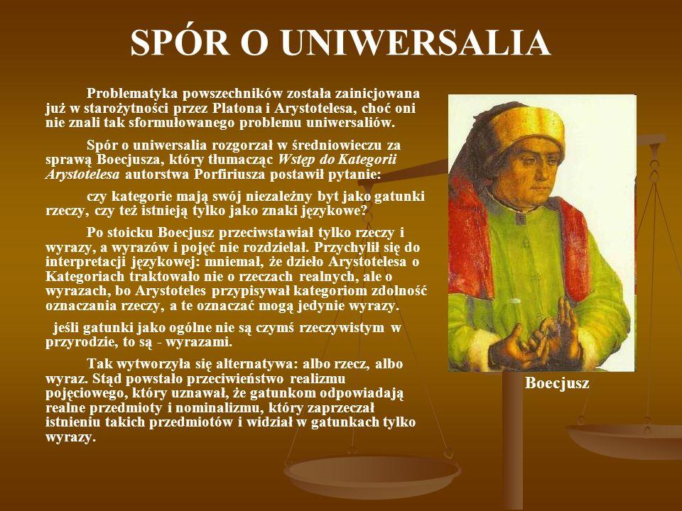 SPÓR O UNIWERSALIA Boecjusz
