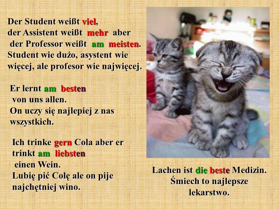 Lachen ist die beste Medizin. Śmiech to najlepsze lekarstwo.