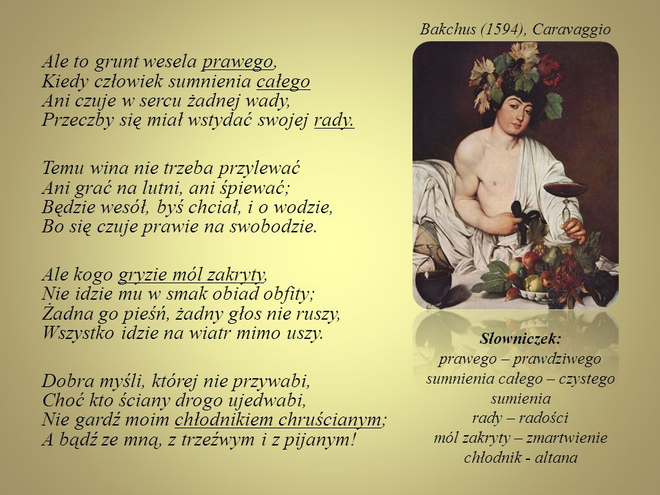 Bakchus (1594), Caravaggio