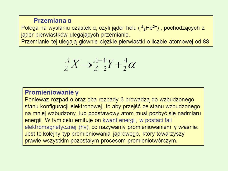 Promieniowanie γ Przemiana α