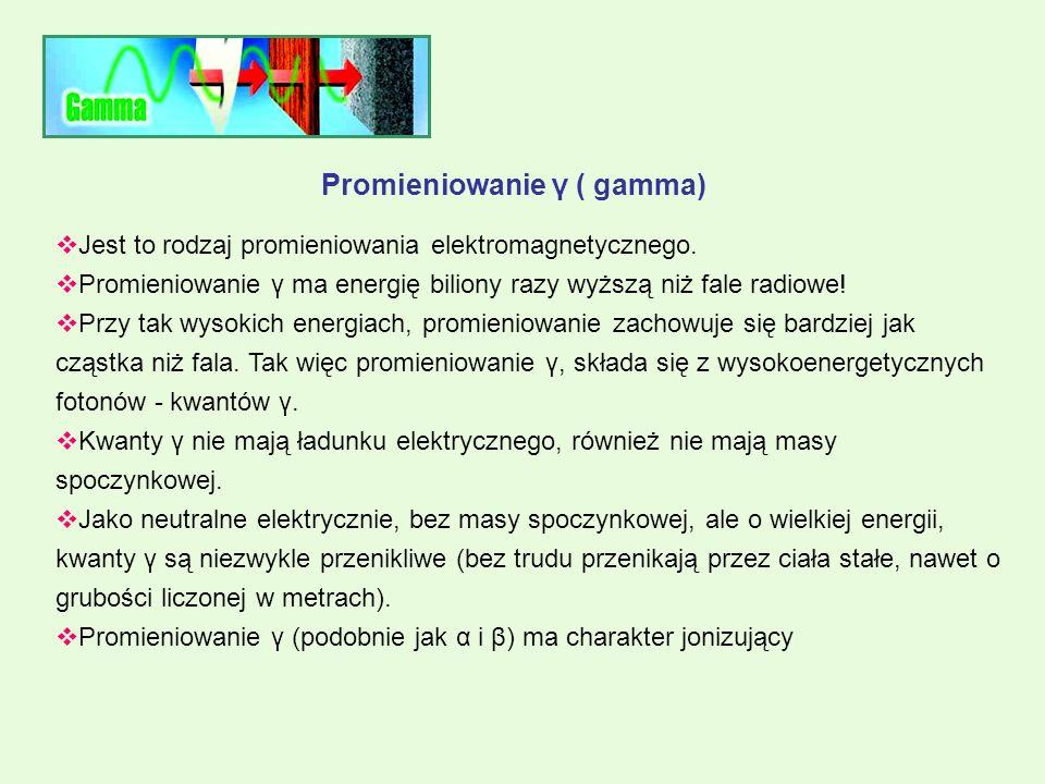 Promieniowanie γ ( gamma)