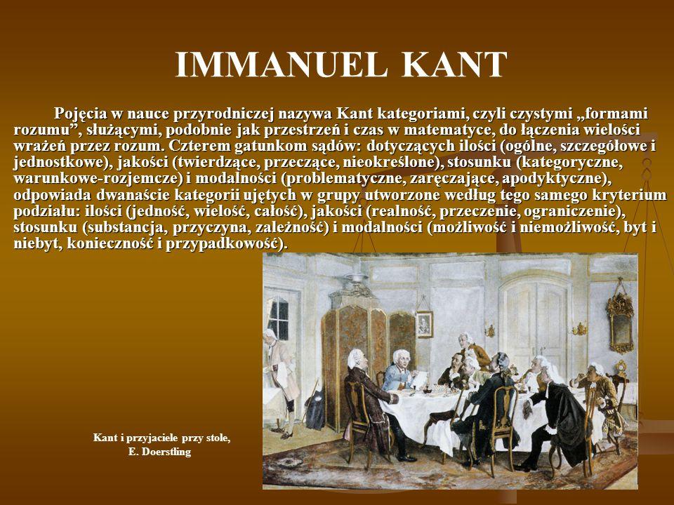 Kant i przyjaciele przy stole,