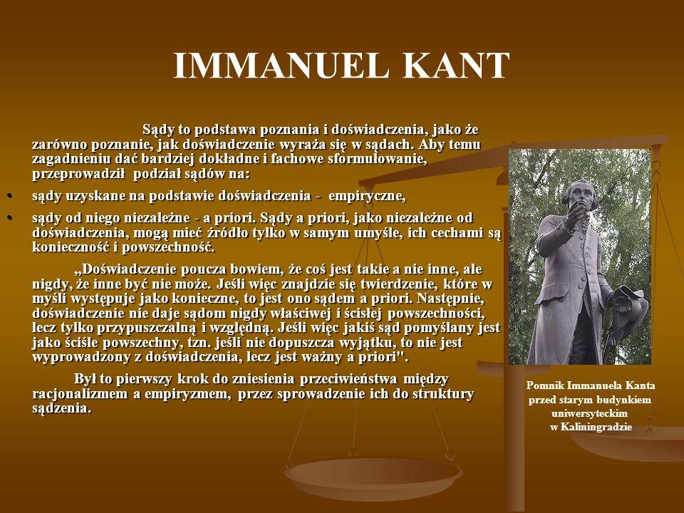 Pomnik Immanuela Kanta przed starym budynkiem