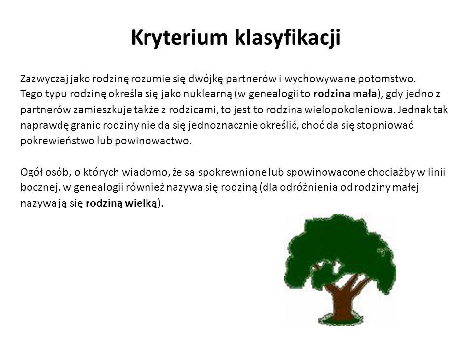 Kryterium klasyfikacji