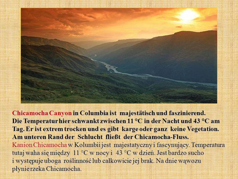 Chicamocha Canyon in Columbia ist majestätisch und faszinierend