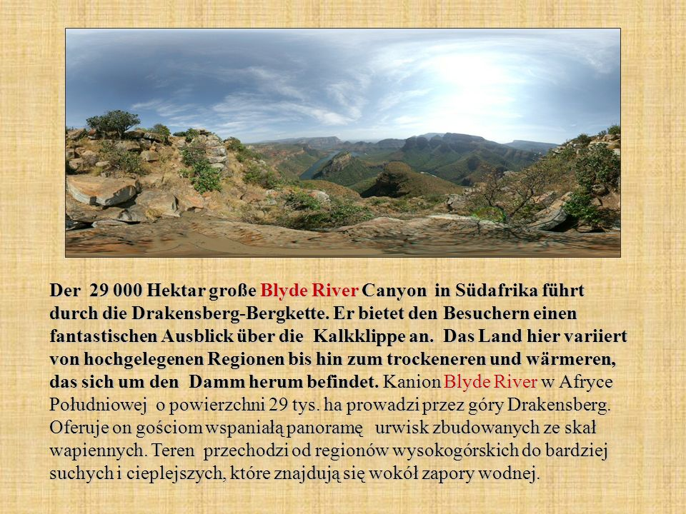 Der 29 000 Hektar große Blyde River Canyon in Südafrika führt durch die Drakensberg-Bergkette.