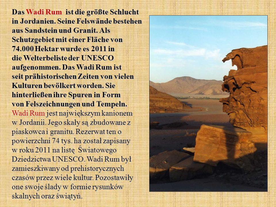 Das Wadi Rum ist die größte Schlucht in Jordanien