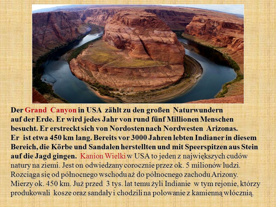 Der Grand Canyon in USA zählt zu den großen Naturwundern auf der Erde