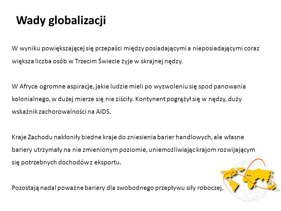 Wady globalizacji