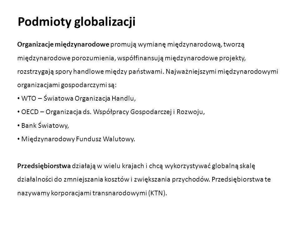 Podmioty globalizacji
