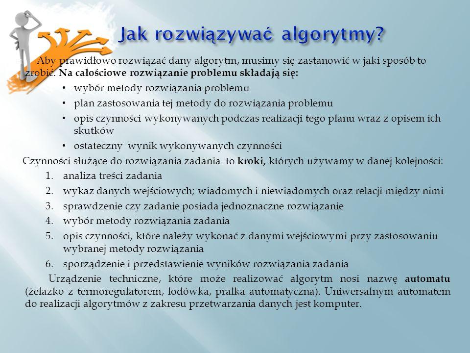 Jak rozwiązywać algorytmy