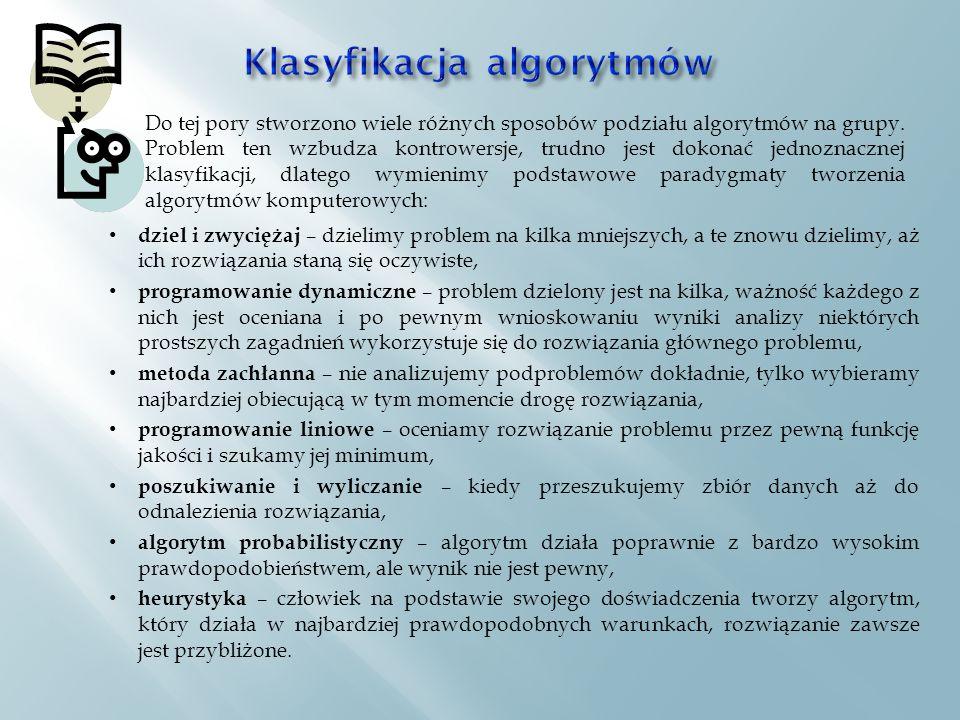 Klasyfikacja algorytmów