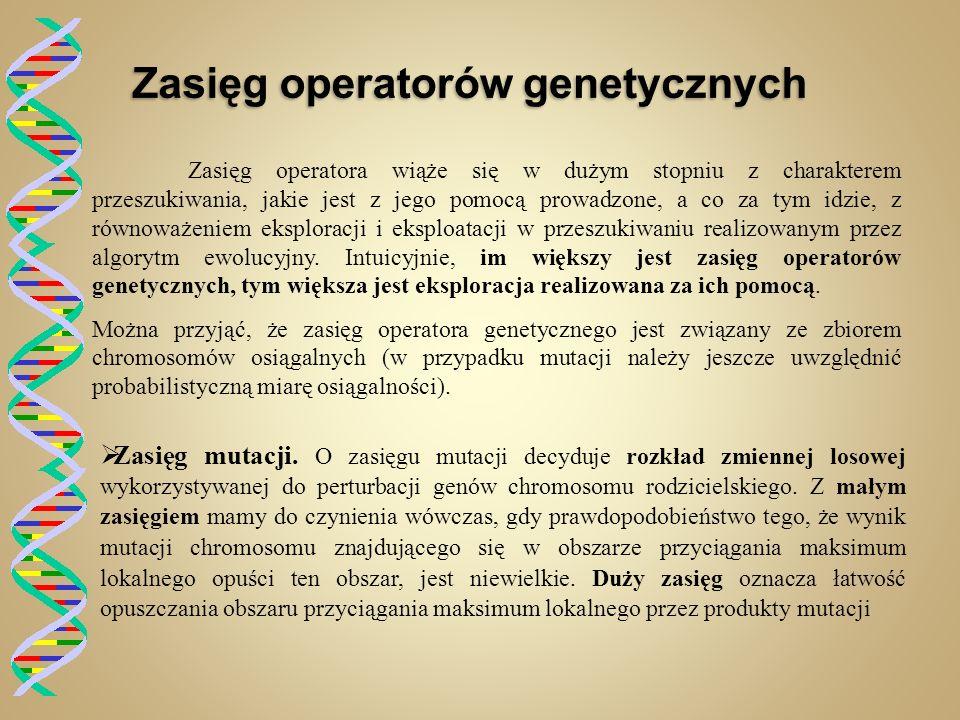 Zasięg operatorów genetycznych
