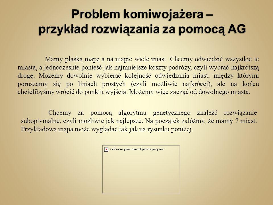 Problem komiwojażera – przykład rozwiązania za pomocą AG
